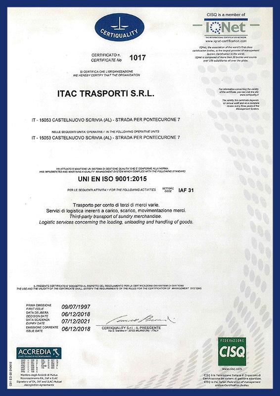 Certificazione Certiquality